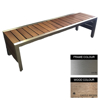 Picture of Mall Bench - Stainless Steel 304 and Wood - Adj. Feet - 45x240x51cm - Colour Options - ML4261S