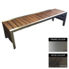Picture of Mall Bench - Stainless Steel 304 and Wood - Bolt Down - 45x240x51cm - Colour Options - ML4262S