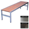 Picture of Slimline Bench - Stainless Steel 304 and Wood - Bolt Down - 45x180x45cm - Colour Options - SL4242S