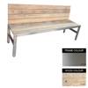 Picture of Slimline Bench - Stainless Steel 304 and Wood - Adj. Feet - 45x180x49cm - Colour Options - SLB4241S