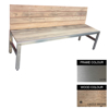 Picture of Slimline Bench - Stainless Steel 304 and Wood - Bolt Down - 45x240x49cm - Colour Options - SLB4262S