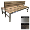 Picture of Slimline Bench - Stainless Steel 304 and Wood - Bolt Down - 45x180x98cm - Colour Options - SLBD4242S