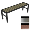 Picture of Slimline Bench - Stainless Steel 304 and Composite - Bolt Down - 45x150x54cm - Colour Options - SLO4232S
