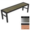 Picture of Slimline Bench - Stainless Steel 304 and Composite - Bolt Down - 45x180x54cm - Colour Options - SLO4242S