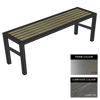 Picture of Slimline Bench - Stainless Steel 304 and Composite - Bolt Down - 45x240x54cm - Colour Options - SLO4262S