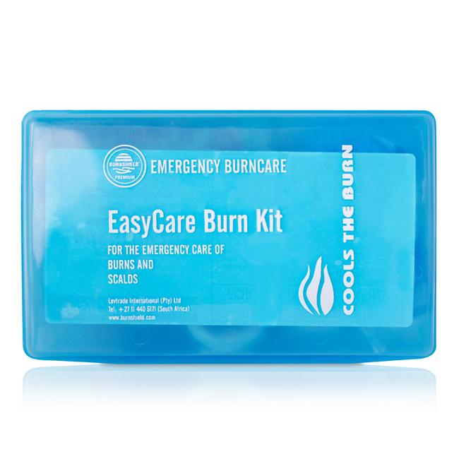 Picture of Burnshield Easy Care Burn Kit - Plastic PVC Box and Contents - 20 x 6 x 13 cm - 550012