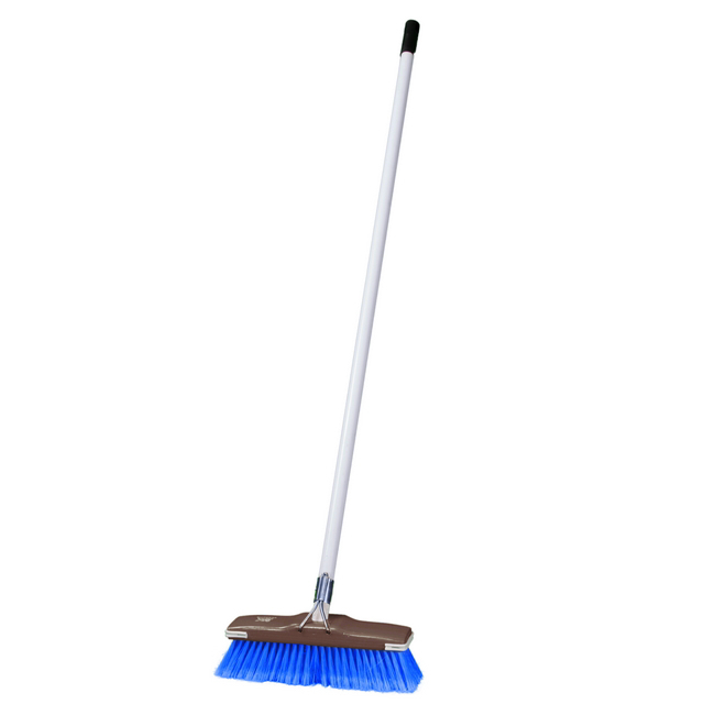 Picture of Floor Broom - Complete - GB1 - Soft - Flagged Synthetic Fibre - Buffer - Metal Handle - 55 Grip - Pack of 5 - F3359