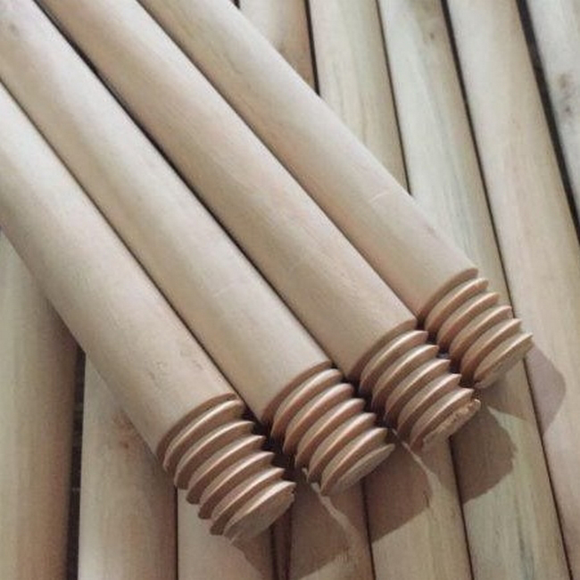 Picture of Broom and Mop Handle - Broomstick - Screw-in - Wooden - 1.2m x 22mm - (25 Pack) - F3327W