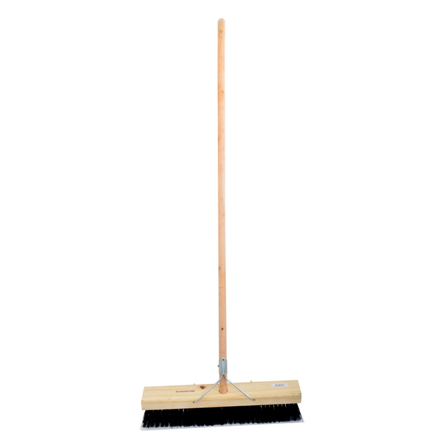 Picture of Platform Broom - Complete - Millennium - Black Synthetic Fibre - Wooden Handle - 88 Grip - 61cm - Pack of 3 - F3352