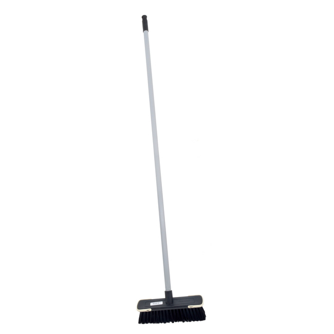 Picture of Floor Broom - Complete - Soft Funky  - Black Fibre - Screw-in Handle - Pack of 5 - F3852