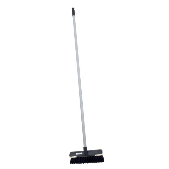Picture of Floor Broom - Complete - Soft Funky  - Black Fibre - Screw-in Handle - (5 Pack) - F3852