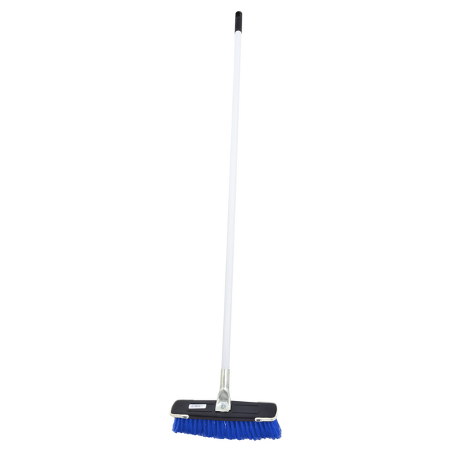 Picture of Floor Broom - Complete - Soft Funky Broom - Crimped PVC Fibre - Metal Handle - Pony Grip - (5 Pack) - F3853
