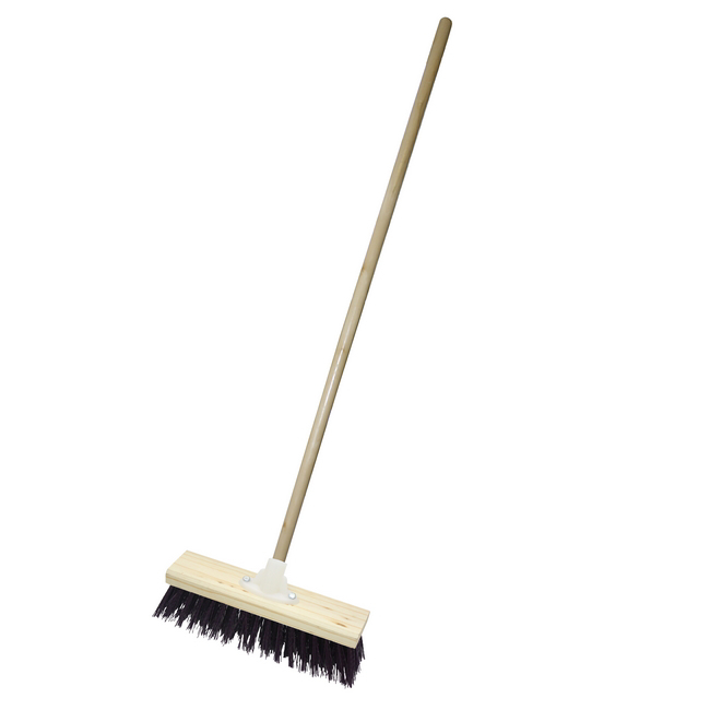 Picture of Gutter Sweeper Broom - Complete - Rainbow - Synthetic Fibre - Wooden Screw-in Handle - 30.5cm - (3 Pack) - F3561