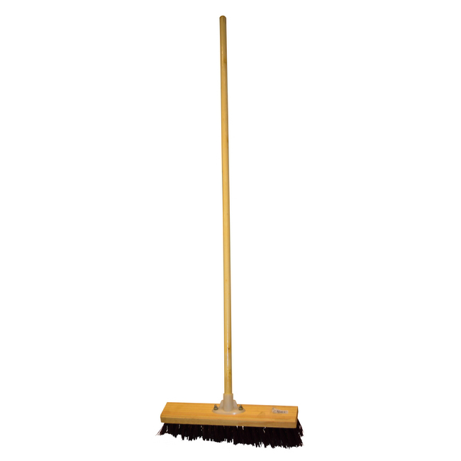 Picture of Gutter Sweeper Broom - Complete - Rainbow - Synthetic Fibre - Wooden Screw-in Handle - 37.5cm - (3 Pack) - F3562