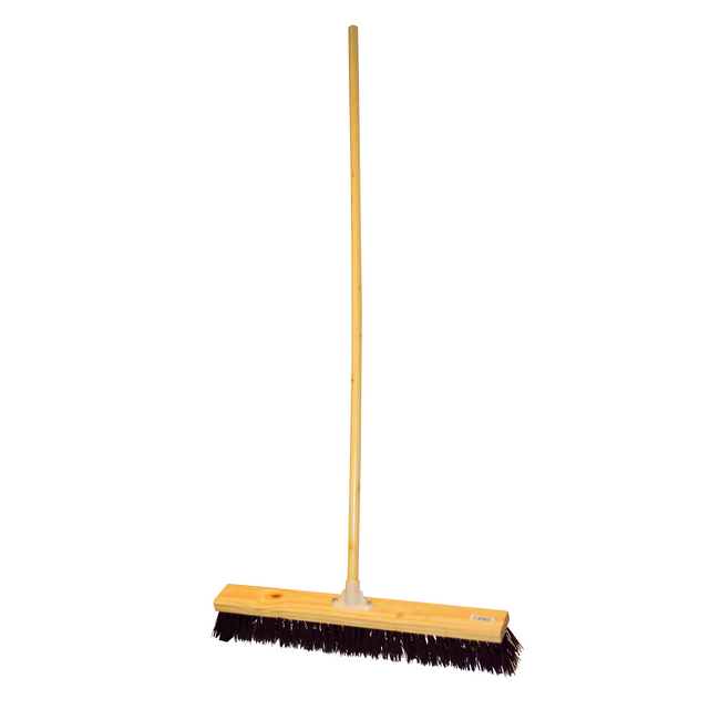 Picture of Platform Broom - Complete - Rainbow - Synthetic Fibre - Wooden Screw-in Handle - 46cm - Pack of 3 - F3563