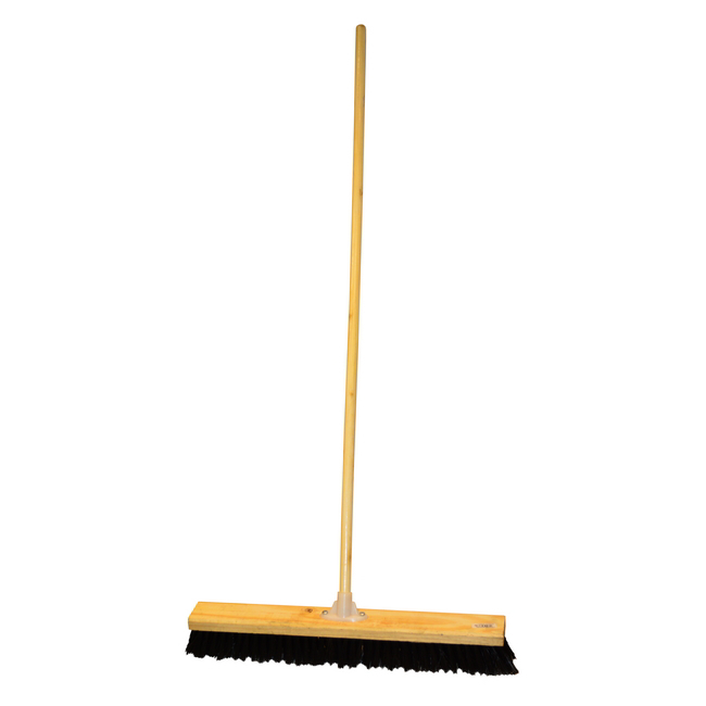 Picture of Platform Broom - Complete - Rainbow - Soft Synthetic Fibre - Wooden Screw-in Handle - 61cm - Pack of 3 - F3566