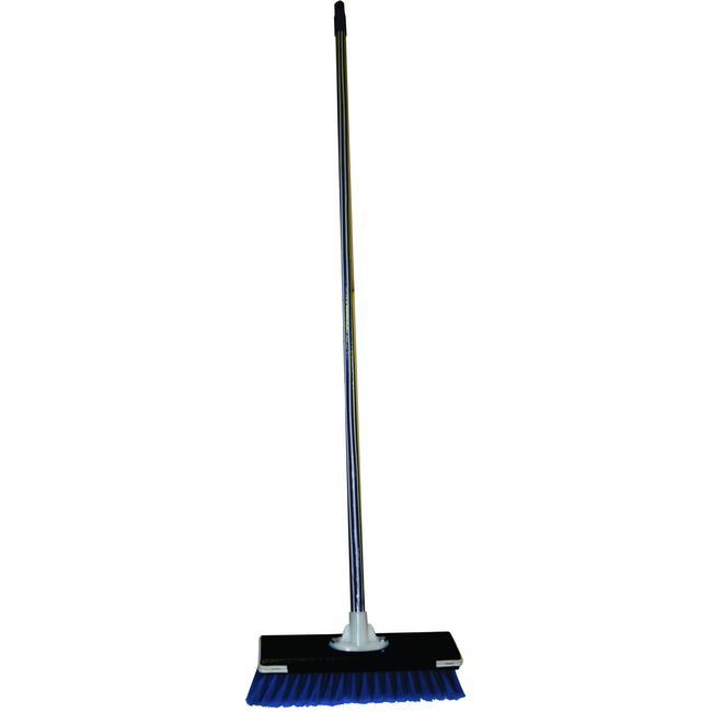 Picture of Floor Broom - Complete - Rainbow Household - Flagged Synthetic Fibre - Wooden Screw-in Handle - 30.5cm - Pack of 5 - F3567