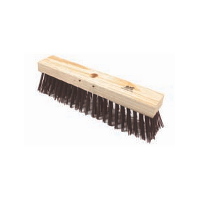 Picture of Gutter Sweeper Broom - Head Only - Stiff Brown PVC Fibre (1.5mm) - 30.5cm - Pack of 12 - F3107
