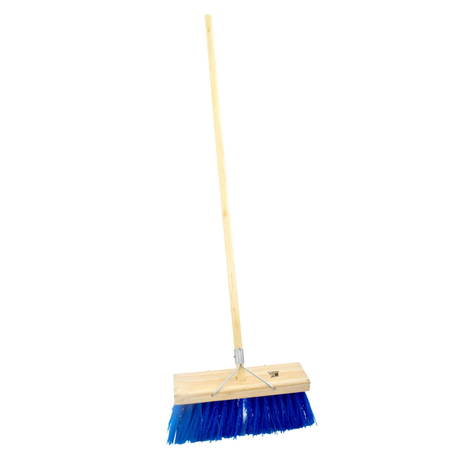 Picture of Bass Broom - Complete - Synthetic Fibre - Wooden Handle - 99 Grip - 37.5cm - Pack of 3 - F3154