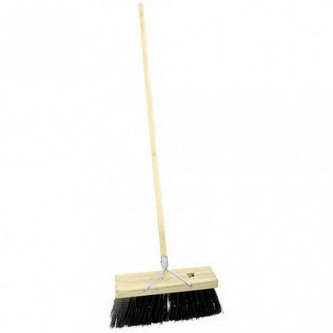 Picture of Bass Broom - Complete - Natural Fibre - Wooden Handle - 99 Grip - 37.5cm - Pack of 3 - F3153