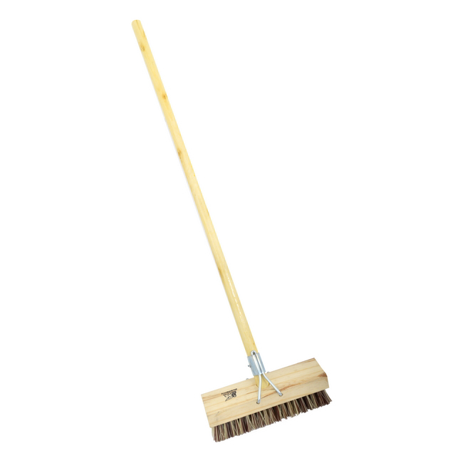 Picture of Deck Scrub - Complete - Union Fibre Substitute - Wooden Handle - 55 Grip - 30.5cm - Pack of 5 - F4059