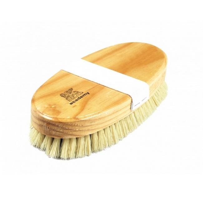 Picture of Floor Polishing Brush - Black Fibre - Coloured Border - Varnished Back with Elastic Strap - 23cm - (5 Pack) - F4401