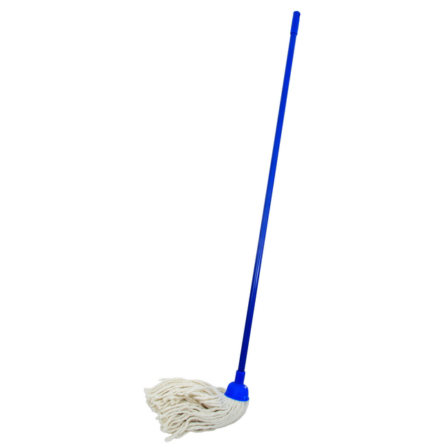 Picture of Mop - Complete - W2 Head with with Plastic Socket - Metal Handle - Blue - 265g - Pack of 5 - F8759