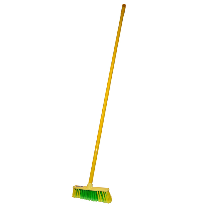 Picture of Soft Broom - Rainbow Range - Eco - Complete - Plastic Head - Synthetic Fibre - Metal Handle - (5 Pack) - F3362