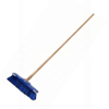 Picture of Floor Broom - Complete - GB6 - Soft - Black PVC Fibre Centre - Coloured Border - Buffers - Wooden Handle - 55 Grip - (5 Pack) - F13366