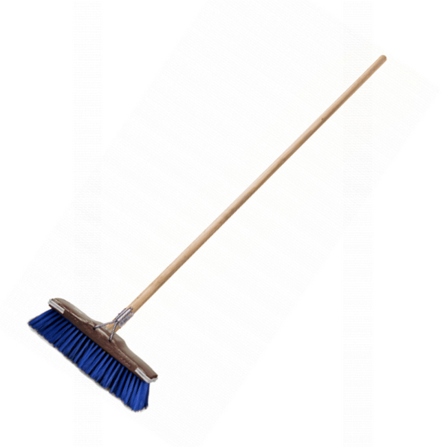 Picture of Floor Broom - Complete - GB1 - Soft - Flagged Synthetic Fibre - Buffer - Wooden Handle - 55 Grip - (5 Pack) - F13359