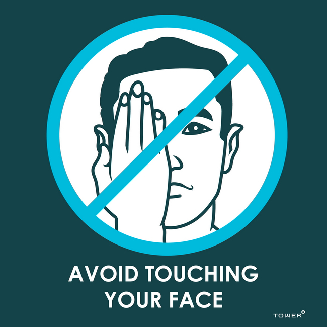 Picture of ABS Signage - Hygiene - Avoid Touching Your Face - 190 x 190mm - SIGNATE190