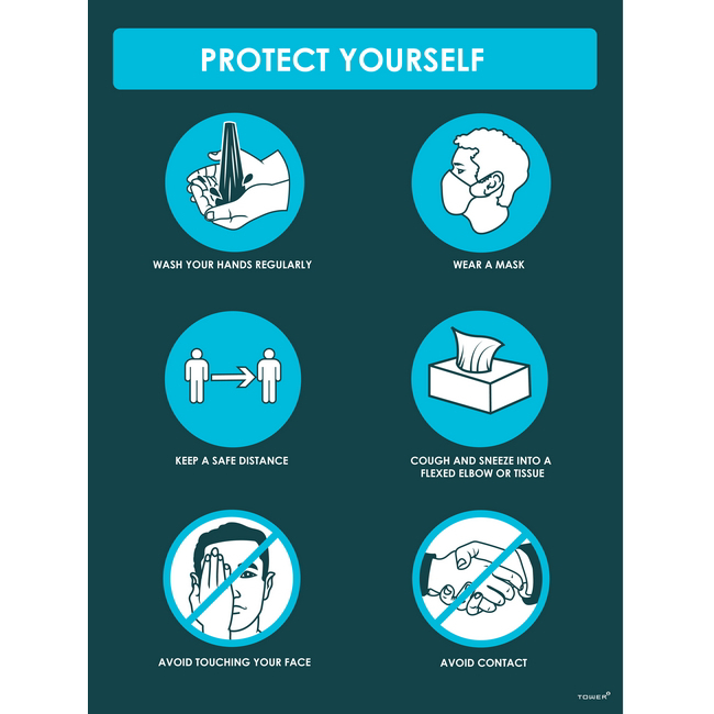 Picture of ABS Signage - Hygiene - Protect Yourself Guidelines - 210 x 297mm - SIGNCBNS
