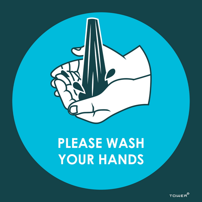 Picture of ABS Signage - Hygiene - Please Wash Your Hands - 150 x 150mm - SIGNPWH
