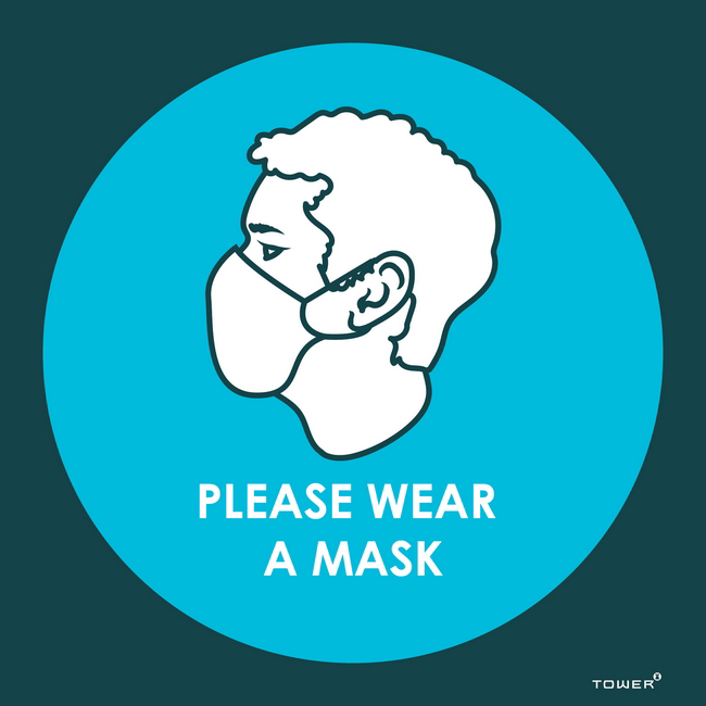 Picture of ABS Signage - Hygiene - Please Wear a Mask - 150 x 150mm - SIGNPWM