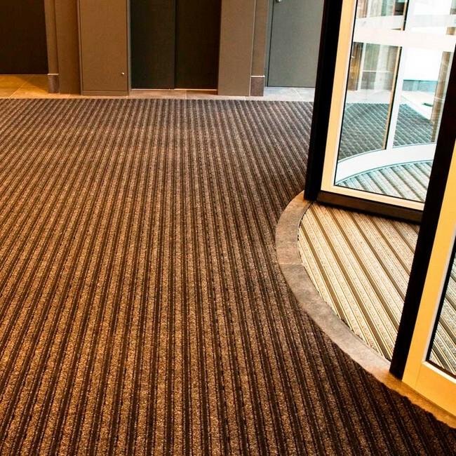 Picture of Entrance Mat - Trio Brush Carpet - 200 x 1 cm - per Linear Metre - Brown - PMTB050001C