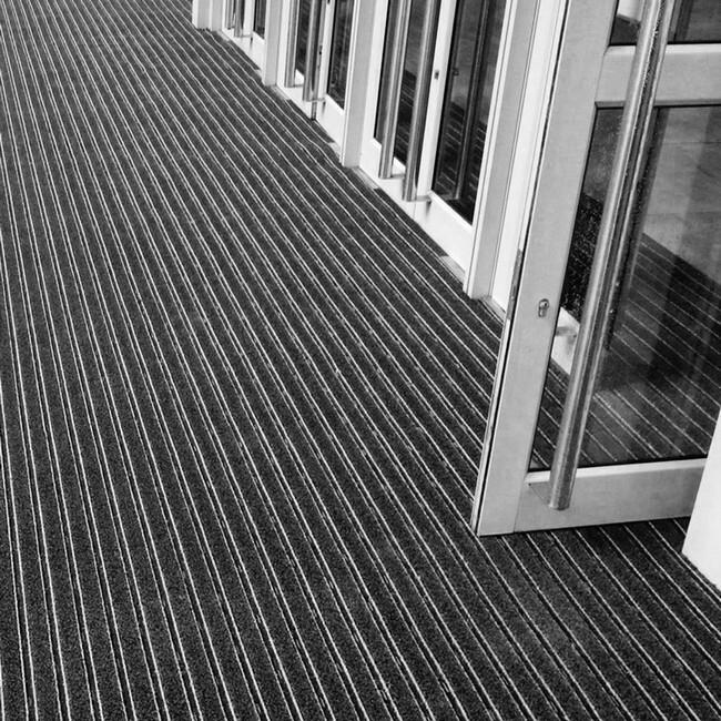 Picture of Outdoor Entrance Mat - Super Scraper - 200 x 1.3 cm - per Linear Metre - Black - PMS010001C