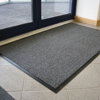 Picture of Doormat - Vyna-Plush Non-Slip - 75 x 40 x 0.7 cm - Black and Steel - VP010606