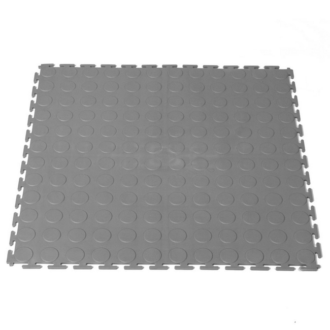 Picture of Interlocking PVC Floor Tiles - Raised Medallion - 50 x 50 x 0.4 cm - Grey - (MOQ 200) - 5300CEA-grey