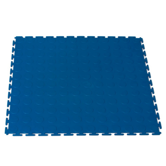 Picture of Interlocking PVC Floor Tiles - Raised Medallion - 50 x 50 x 0.4 cm - Blue - (MOQ 200) - 5300CEA-blue