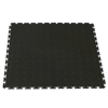 Picture of Interlocking PVC Floor Tiles - Raised Medallion - 50 x 50 x 0.4 cm - Black - 5300EA