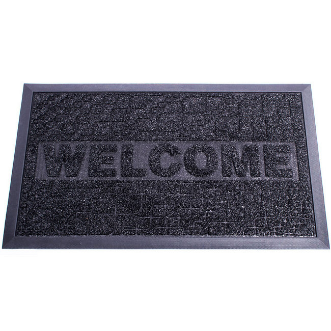 Picture of Heavy-Duty Doormat - Design Decoturf Ribbed Mat - 75 x 45 x 0.5 cm - Black - DE070001-black