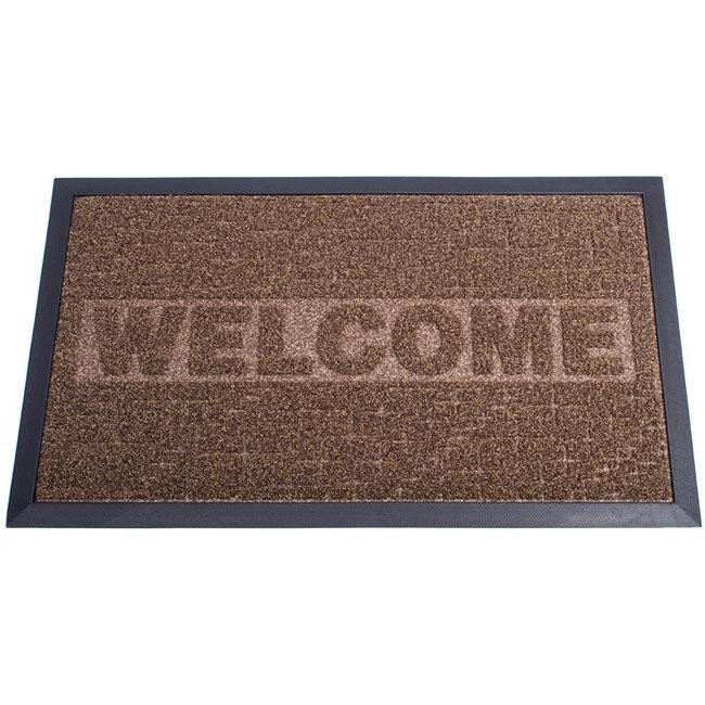 Picture of Heavy-Duty Doormat - Design Decoturf Ribbed Mat - 75 x 45 x 0.5 cm - Brown - DE070001-brown