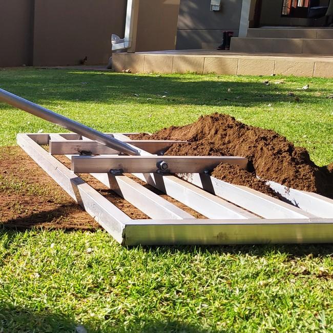 Picture of Lawn Leveller Rake - Aluminium - 98 x 45 x 186cm - L001