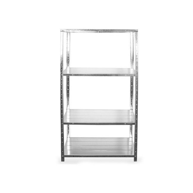 Picture of Steel Shelving - 4 Tier - Light Duty - Galvanised Stand and Shelves - ADIY3900