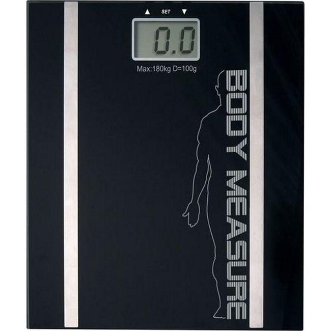 Picture of Bathroom Body Fat and Hydration Scale - Black - ABS5130