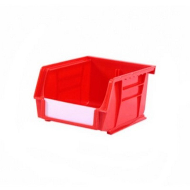 Picture of Panel Bin - Plastic Small Parts Container - Size 2 - 13.5 x 10.5 x 7.5 cm - Red - BIN-2-RED