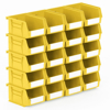 Picture of Panel Bin - Plastic Small Parts Container - Size 2 - 13.5 x 10.5 x 7.5 cm - Yellow - BIN-2-YELLOW