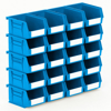 Picture of Panel Bin - Plastic Small Parts Container - Size 2 - 13.5 x 10.5 x 7.5 cm - Blue - BIN-2-BLUE