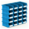Picture of Panel Bin - Plastic Small Parts Container - Size 3 - 19 x 10.5 x 7.5 cm - Blue - BIN-3-BLUE