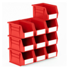 Picture of Panel Bin - Plastic Small Parts Container - Size 4 - 21 x 14 x 13 cm - Red - BIN-4-RED
